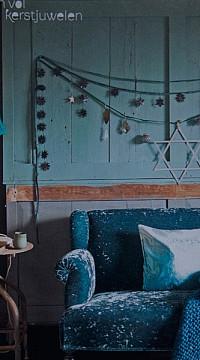 houten tafellamp aqua