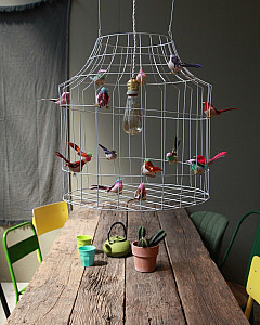 Hanglamp met vogels eettafel   hanging lamp with birds dining table by www.DutchDilight.com