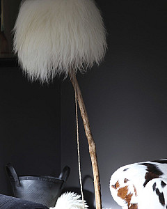 bont lampenkap  | fur lampshade by www.dutchdilight.com