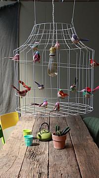 Hängelampe mit Vögel