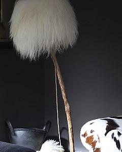 bont lampenkap    fur lampshade by www.dutchdilight.com