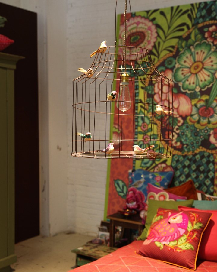 kinderkamer hanglamp van vogelkooi