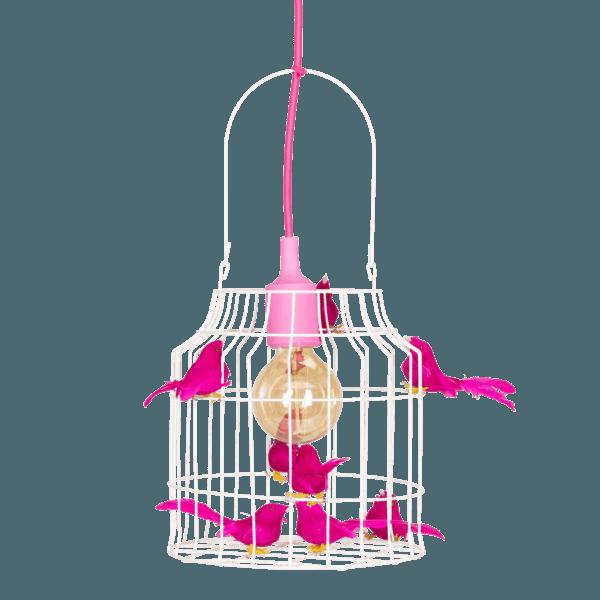 hanglamp vogels fuchsia