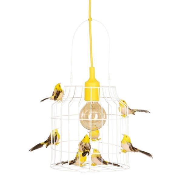 hanglamp voor vogels geel