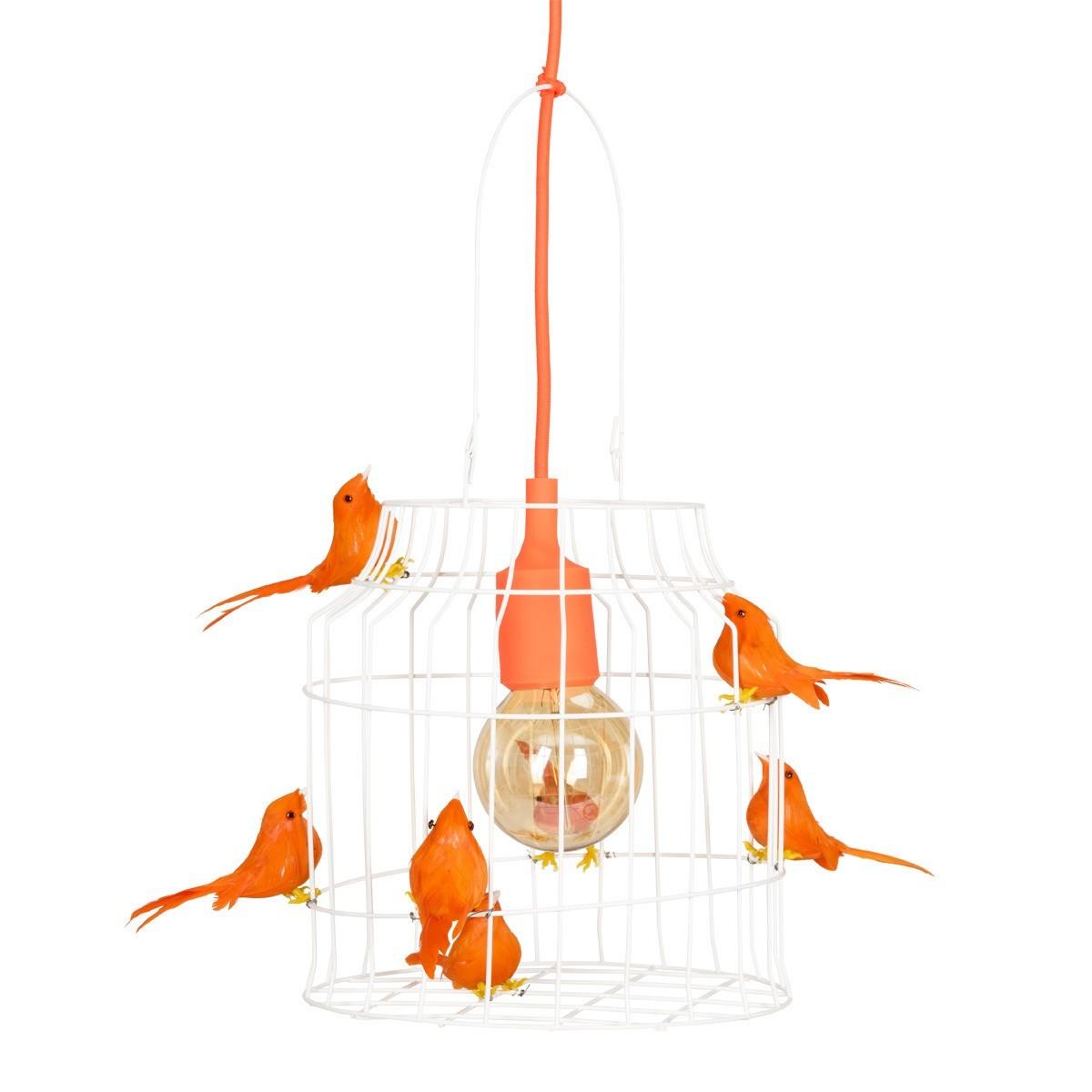 Orange hanging lamp - Birds Hanging Lamp Orange Birds