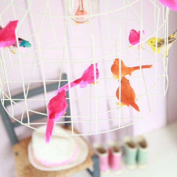 hanglamp vogeltjes meisjeskamer
