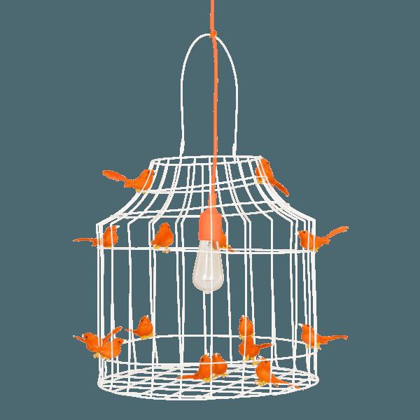 hanglamp vogeltjes oranje