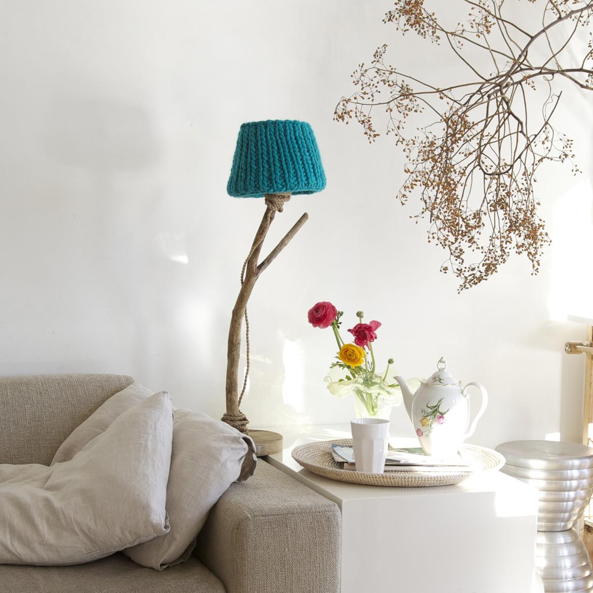 Houten tafellamp aqua   dutch dilight