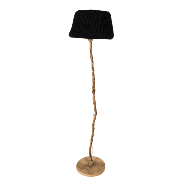 houten vloerlamp