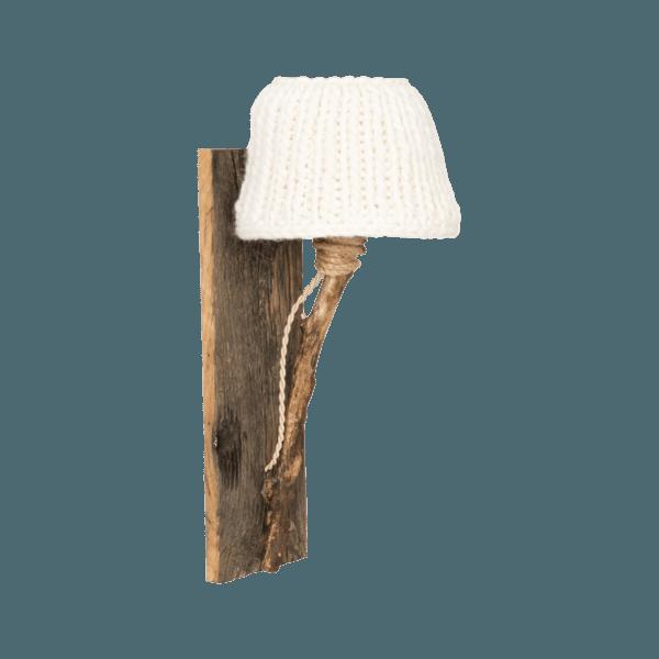 houten wandlamp