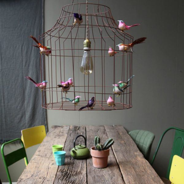 bird cage hanging lamp dining table
