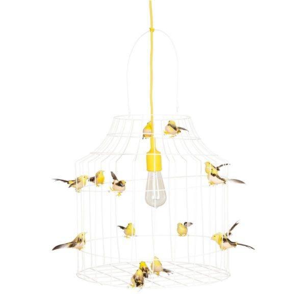 vogelkooi hanglamp geel