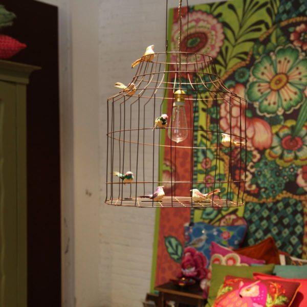 bird cage hanging lamp bedroom
