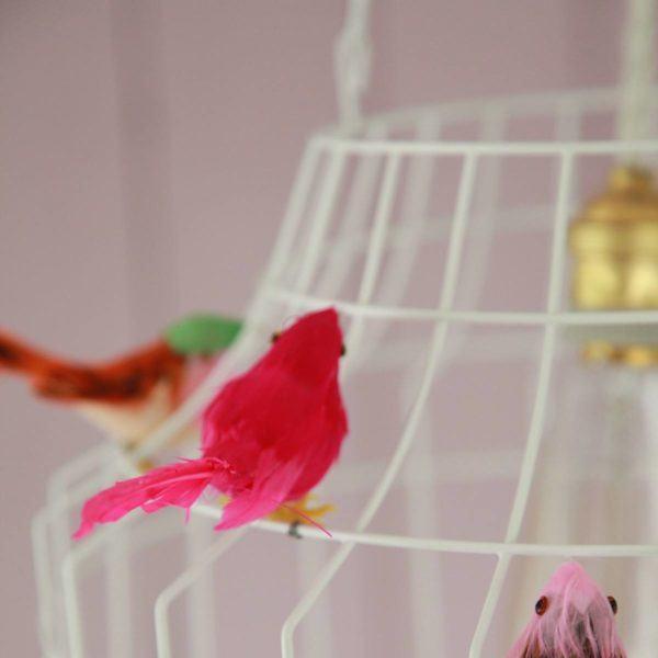 witte hanglamp vogels babykamer