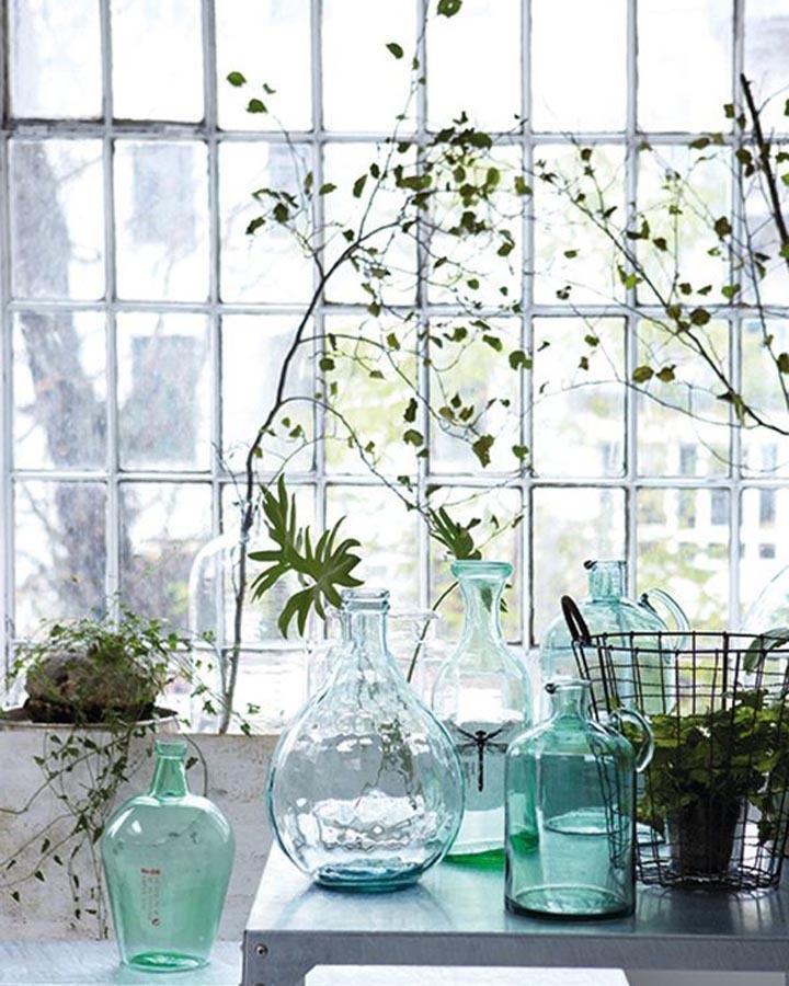 botanisch interieur tak in glas