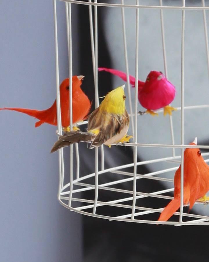hanglamp eettafel keuken vogels neon