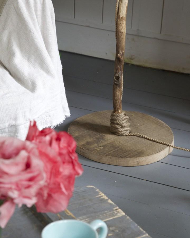 houten staande lamp houten voet