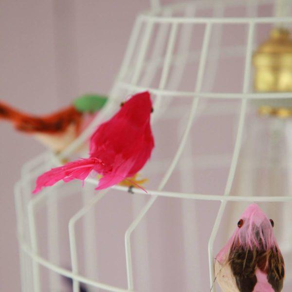 hanglamp wit mixed vogels
