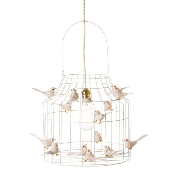 witte hanglamp vogels wit