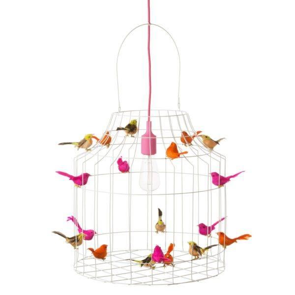 vogelkooi hanglamp neon