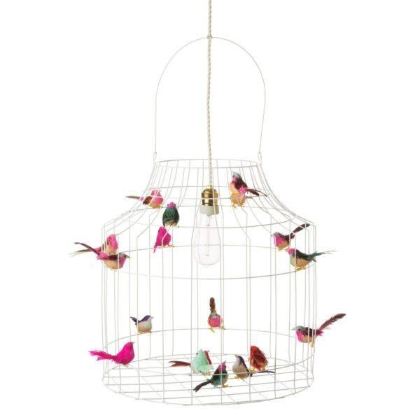 witte vogelkooi hanglamp
