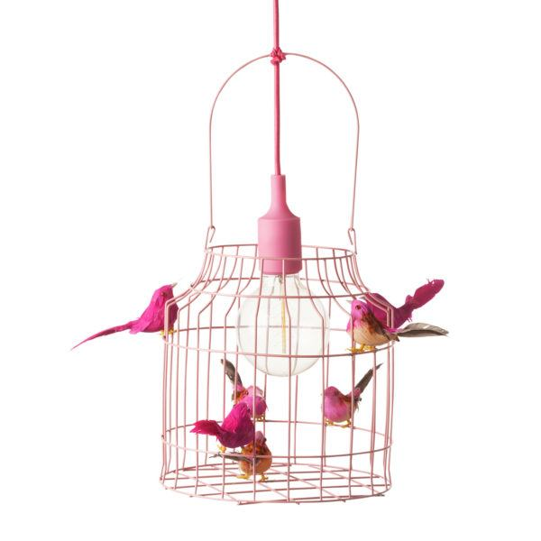 roze hanglamp roze meisjeskamer
