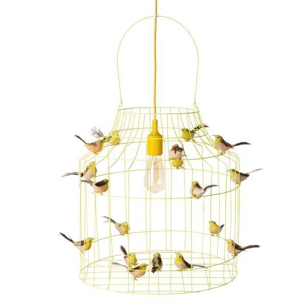 gele hanglamp vogeltjes